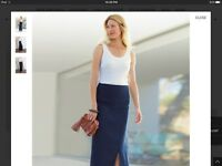 Pure Collection Linen Maxi Skirt