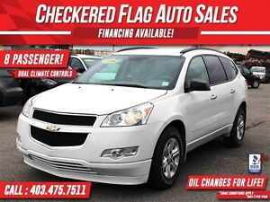 2011 Chevrolet Traverse LS W/ AWD-8 PASSENGER-DUAL CLIMATE-TRACT