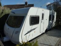 2009 Lunar lexon SI, 4 berth, fixed bed, with motor mover.
