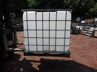 IBC WATER TANKS IDEAL FOR GARDENS ,ALLOTMENTS , FISH , HORSES ETC CHADDESDEN DEBY