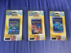 Pokémon base set blister packs all three artworks available!