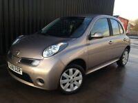 2008 Nissan Micra 1.2 16v Acenta+ 5dr 12 Months MOT, Bluetooth, 2 Keys, 1Month Warranty Cheap To Run