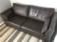 Faux Leather 2 Seater Sofa - Brown - Excellent condition