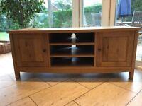 John Lewis Burford oak tv stand unit