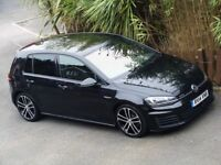 2014 VW GOLF GTD DSG AUTO - PEARL BLACK - FULL HEATED BLACK LEATHER - ONE OWNER - PERFECT VW HISTORY