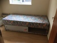 Single bed with storage underneath