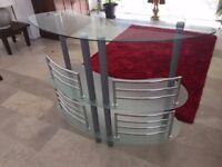 Modern Tempered Glass Bar Table