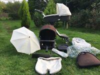 STOKKE Xplory pram stroller in beige/brown lots of extras