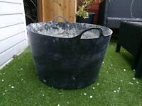 Cement mixer tub