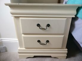 Two lovely wood bedside tables