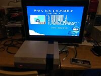 Nintendo nes console and 150 games