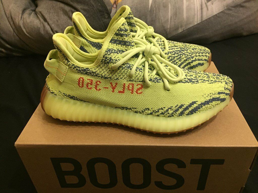 2bdbf6764 ... hot adidas yeezy boost 350 v2 semi frozen yellow size 7 5a5c1 6d5a0