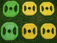 REEBOK Rubber-Coated Cast Iron Weight Plates
