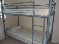 Steel Frame Bunk Beds - Single Bed Size