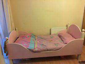Heavy duty wooden single bed