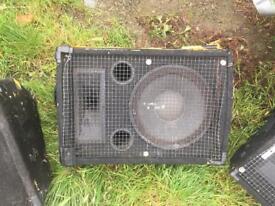 3 passive monitor speakers