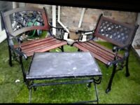 CAST IRON PATIO TABLE AND CHAIRS FABULOUS 🌟🌟🌟🌟WOW REDUCED