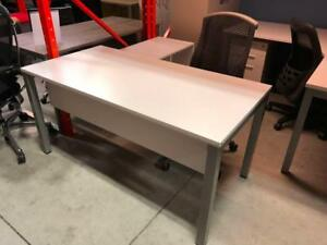 """Axis Series 30"""" x 60"""" Desk with Modesty Panel and Mobile Open Storage Credenza - Brand New"""