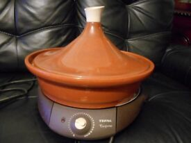 TEFAL ELECTRIC TAGINE/SLOW COOKER with manual/recipe book, serves 6 - 8; great for parties