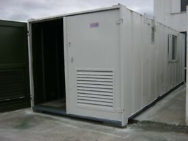 "24ft x 9ft Anti Vandal portable Cabin Welfare Unit Site "" Office Toilet Drying Room Secure Store """