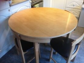 Hygena oak space saver dining set