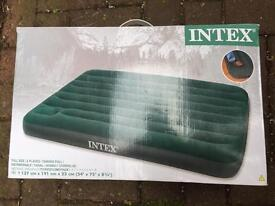 Inflatable double air bed guest/camping
