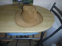 MEN'S ROGUE HANDCRAFTED SUEDE LEATHER HAT. BRAND NEW.