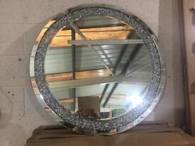 2.5-3foot Lovely diamond mirror round