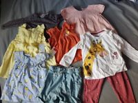 9-12m baby girls clothes (8 items)