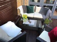 Deluxe garden furniture incl. cover