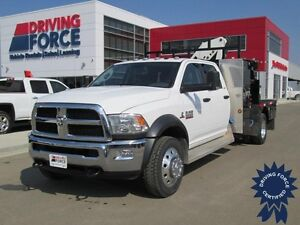 2014 Ram 5500 SLT Work Truck, Picker Crane, Toolboxes, Flat Deck