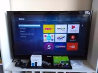40 Inch Bush LED TV with Roku, Chromecast and Now TV Boxes!