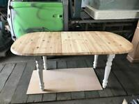 Solid wood extendable farmhouse table