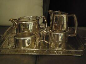 SILVER PLATED TEA SERVICE,