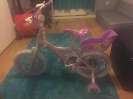 Disney princess bike with stabilisers