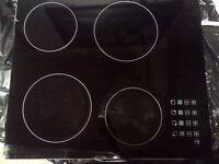 four zone frameless touch control ceramic hob in very good condition with one scrach