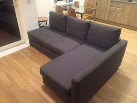 Sofa, chaise longue and double bed in one! Less than 12 months of use