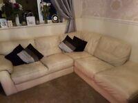 Ivory corner sofa, £100 ono