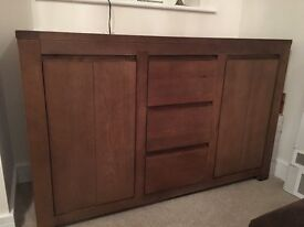Side board with three drawers and two cupboards