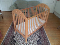 Used Mothercare Quality Beechwood Cot Bed