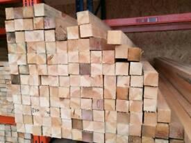 2x2 (50mm x 50mm) Sawn Timber 2.4mtr Lengths
