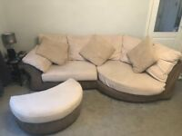 Sofa and puffet for sale