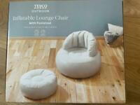 Inflatable Lounge Chair and Footstool