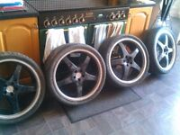 19 inch 5 spoke alloy wheels and tyres