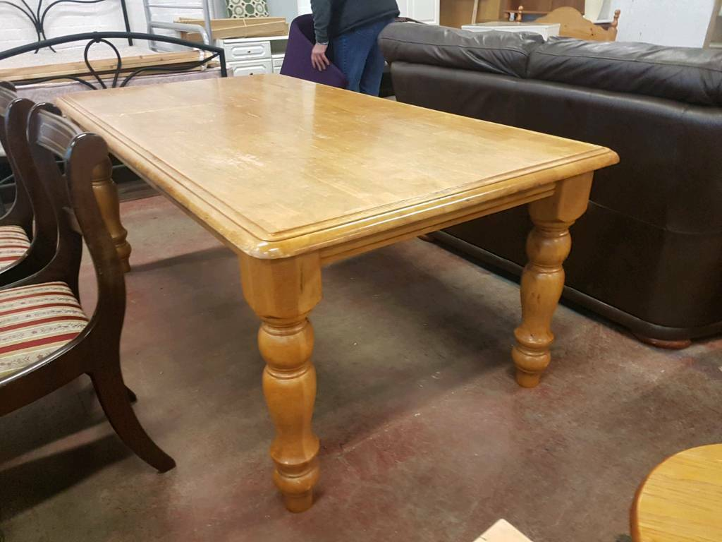 Large pine dining table