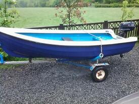 orkney 11 foot tender day fishing boat