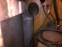 Wood Stove with Pipe