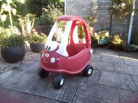 Ruby red sparkly Little tikes cosy coupe. Limited edition.