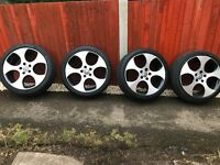 Vw golf gti mk6 monza 2 alloys with tyres 5x112