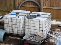 IBC 1000 Litre Waterbutt Rain Water Tanks (x2)